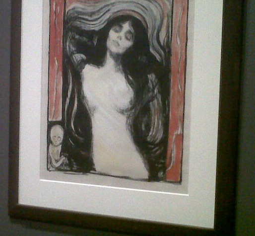 Munch exhibit... Also saw the Scream on display.