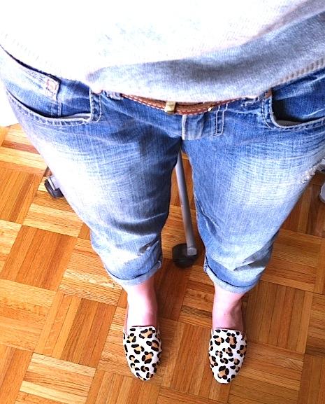 Shoes, Yosi Samra roll up flats. Boyfriend Jeans, L.E.I.