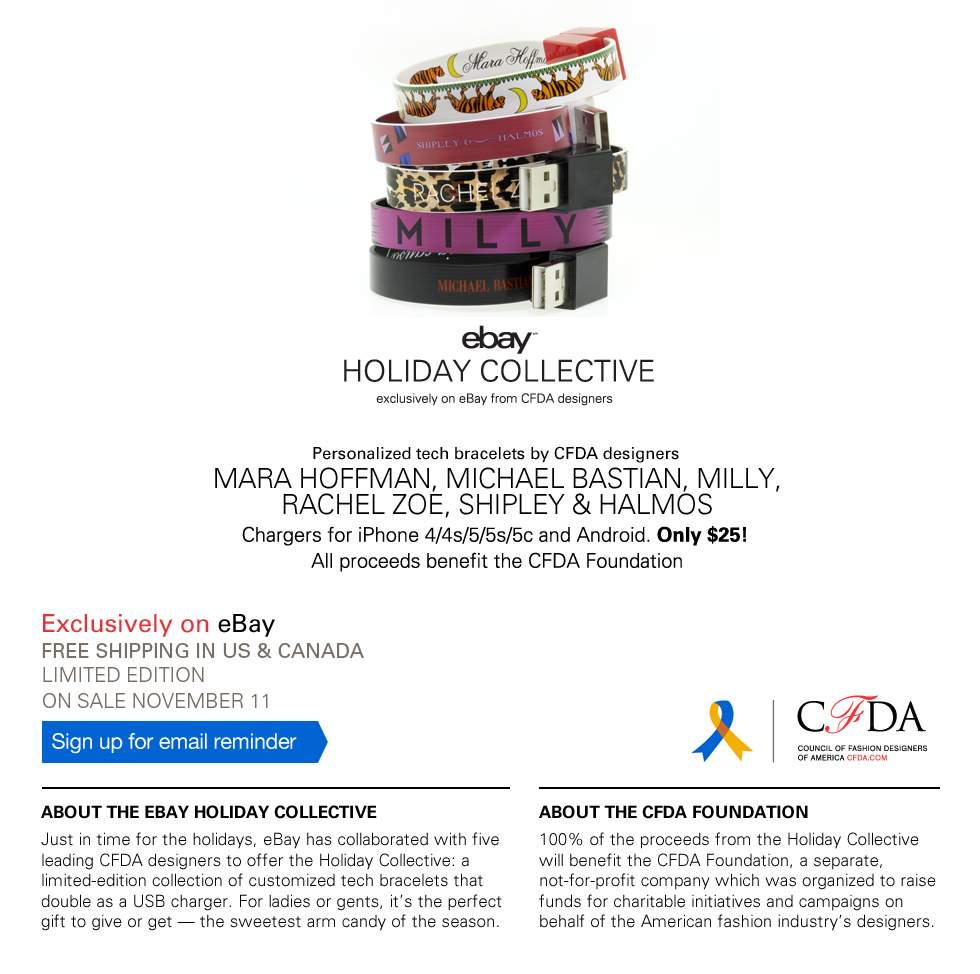 ebay CFDA holiday collective, 2013 holidays, holiday gift guide