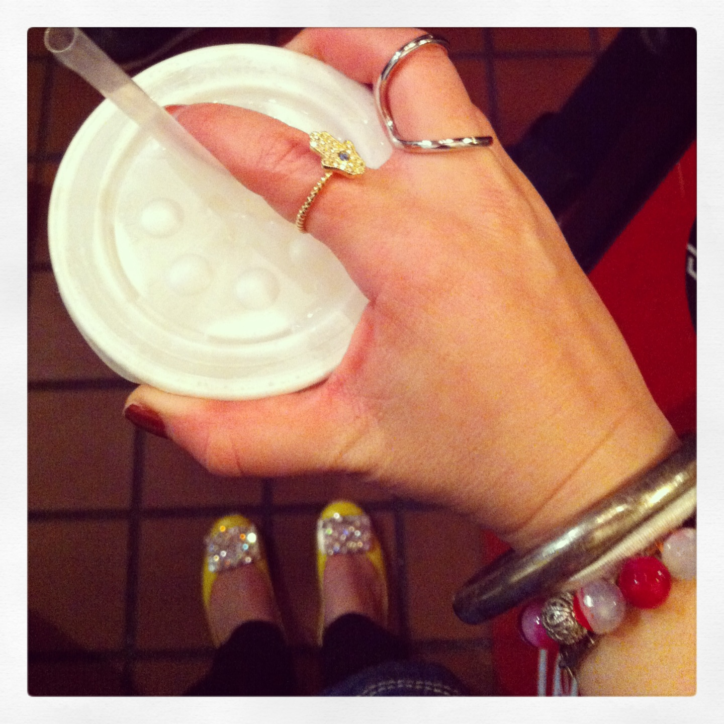 my new fav rings, a surprise present in Soho, and my favorite egg cream in the world at Gem Spa, St Marks Place