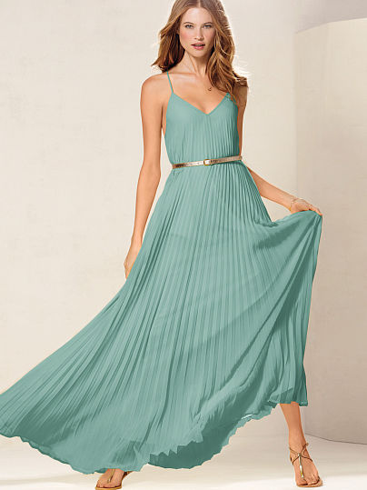 Victorias Secret, Maxi dress, pleated dress, Lupita Nyong copy