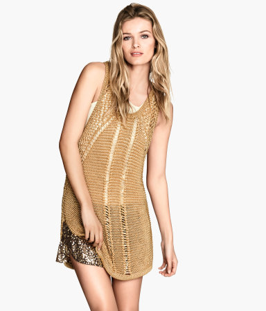 #knit #tunic #metallic #consciouscollection #H&M