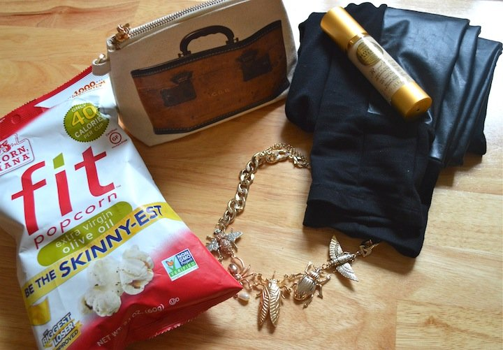 leather leggings, beauty, summer essentials, H&M, necklace, popcorn indiana, food, snacks, necklace, bug necklace
