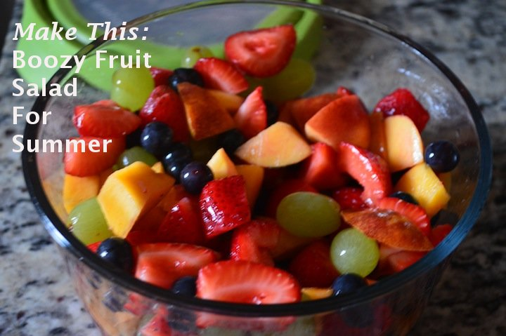 boozy fruit salad, fruit, fruit recipes, party recipes, food, food ideas