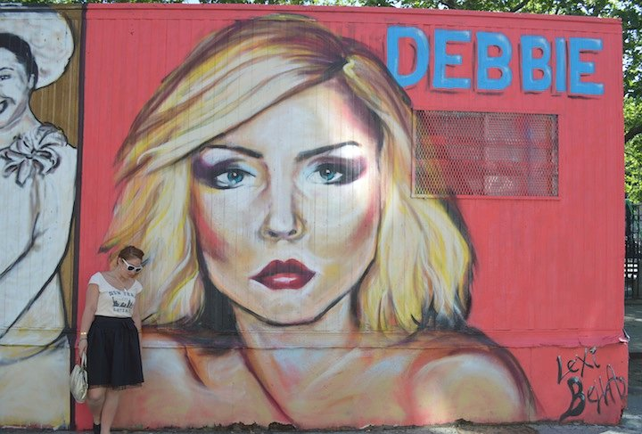 new york city, NYC, fall fashion, debbie harry, nyc art, art, graffiti, chanel