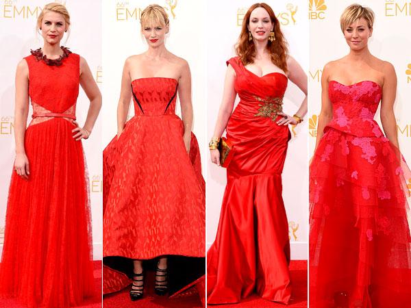 emmy awards, red dresses emmys, fashion, emmy dresses, emmy awards, emmy trends,