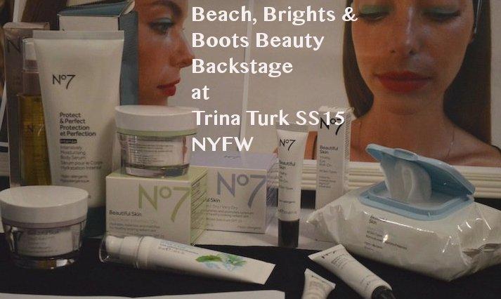 Trina Turk, trink turk nyfw, trina turk fashion show, trina turk SS15, SS15, fashion week, boots usa, boots beauty, beauty, spring 2015, makeup