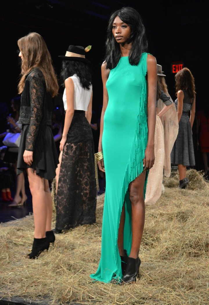 jay godfrey, jay godfrey SS15, SS15 fashion shows, NYFW, NYFW 2015, NYC, fringe, western fashion, capes,