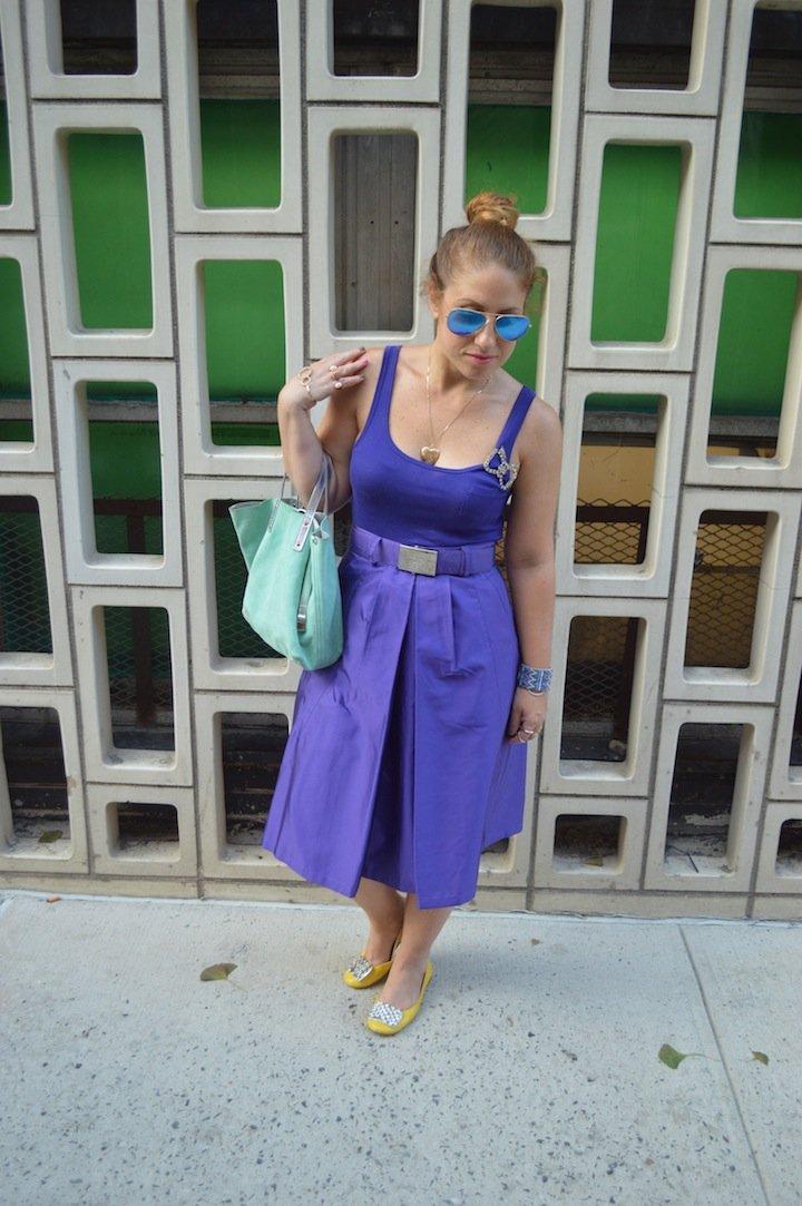 nyfw, prada, matching top and bottom, monochrome look, prada, midi skirt, tiffany and co