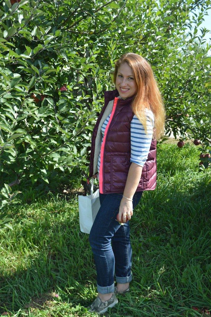 apple picking, crew cuts, j crew, kids clothing, puffy vest, fall fashion, apples