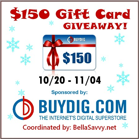 buydig.com, giveaway, gift cards, gift card giveaway, bloggers, blogger giveaway, cash giveaway, electronics, christmas, christmas gifts