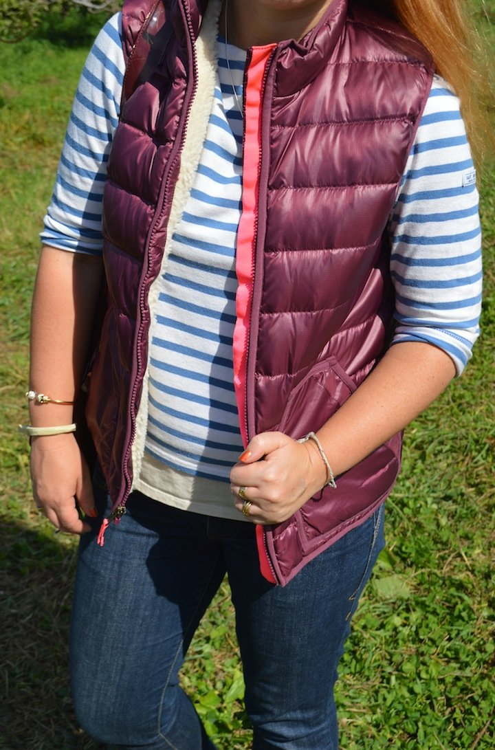 crew cuts, j crew, puffy vest, fall fashion, indian summer, nyc, nyc fall, apples, apple picking