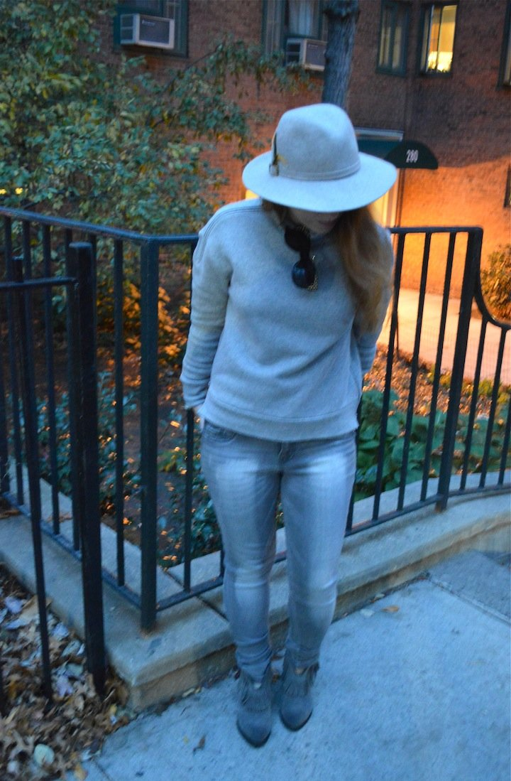50 shades of grey, 50 shades of grey fashion, fall fashion, fringe boots, fedora, style