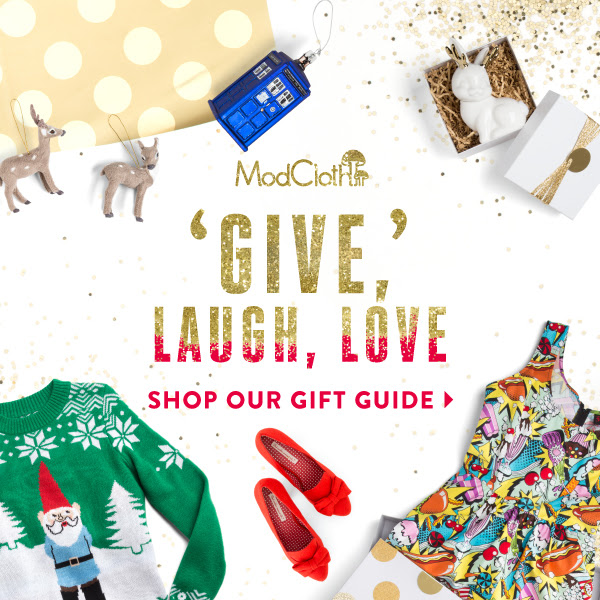 modcloth holiday gift guide, holidays, modcloth, holiday gifts, holiday season
