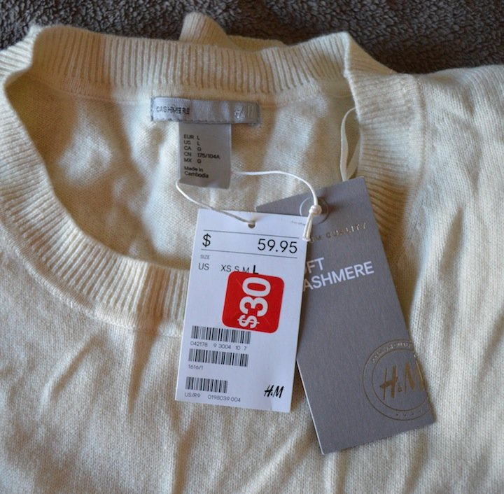 cashmere sweater, H&M, sales, holidays, holiday shopping, shopping sales, holiday sales,
