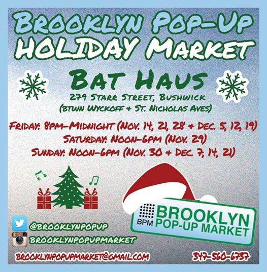 holiday pop up, pop up shop, holiday markets, holiday shopping, holiday season, gifts, holiday gifts, nyc pop ups, nyc shopping