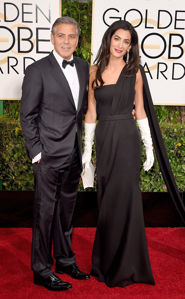 golden globes, golden globe awards, red carpet, 2015 Golden globes, amal clooney, long gloves, red carpet fashion