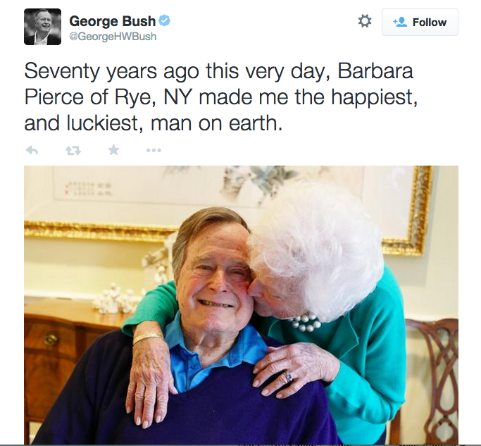 george bush, barbara bush, love, love quotes, popular tweets