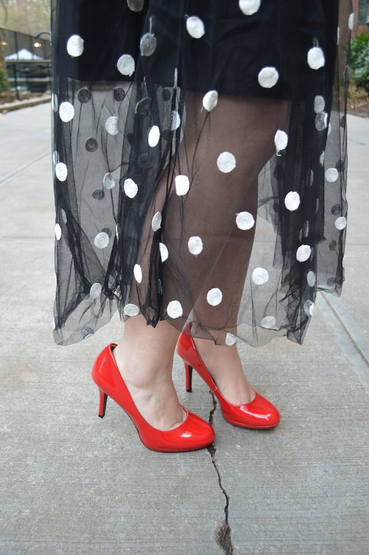 dots, polka dots, winter fashion, style, polka dot skirt, choies, gingham, affordable fashion, pattern play, mixed patterns, target, target style