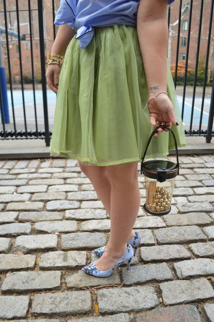 tulle skirts, tulle, fashion blogger, style bloggers, vintage, j.crew, j.crew pajama top, pajama fashion, vintage bag,