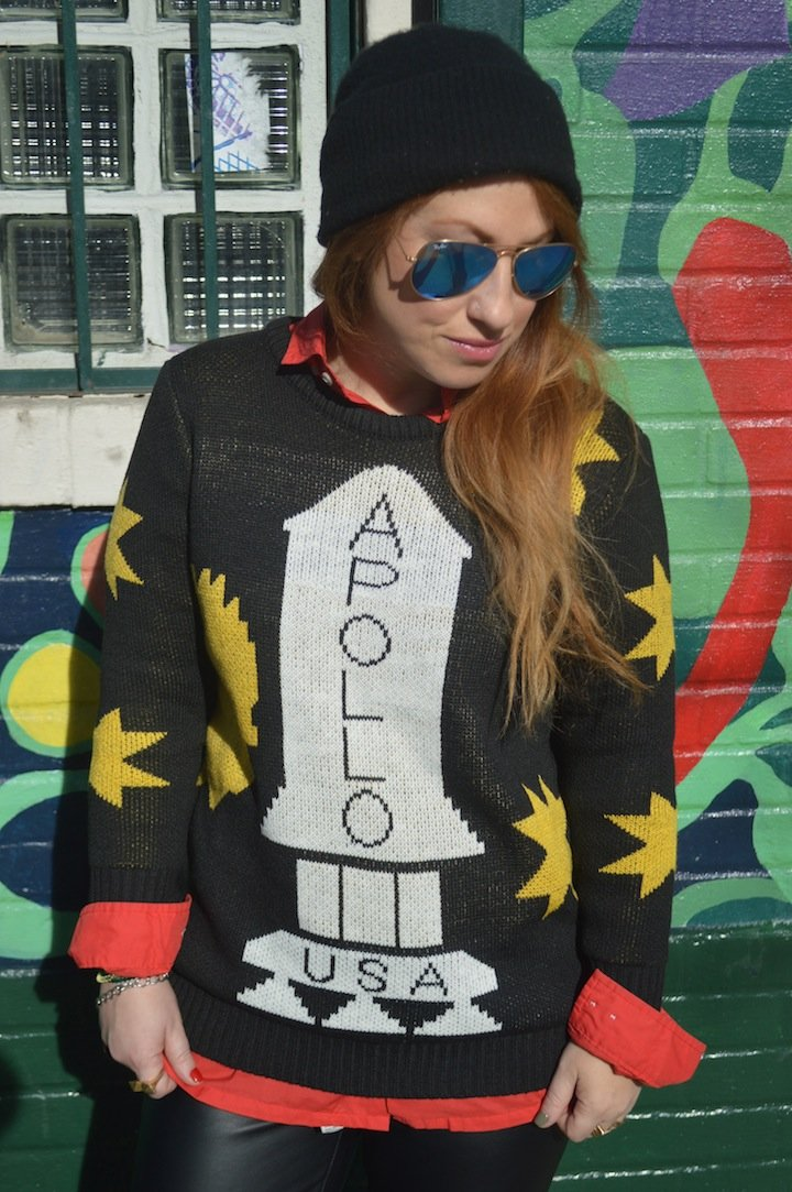 apollo 13 sweatshirt, look for less, affordable fashion, oasap, leather pants, j.crew, winter style, winter fashion, winter nyc, burberry