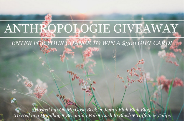 anthropologie giveaway, anthropologie, giveaways, bloggers, fashion, gift card, spring fashion