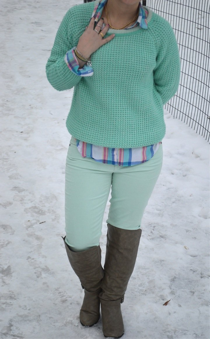 mint, minty fresh, winter fashion, j.crew, cordoroys, skinny jeans, sweaters, winter nyc, nyc