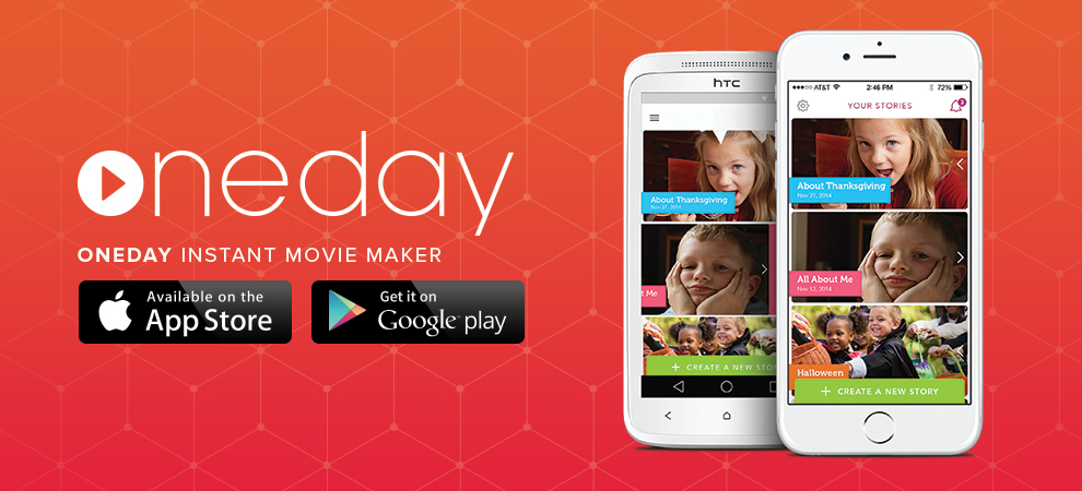 one day app, apps, movie memories, apps for kids, family photos, technology, lifestyle bloggers