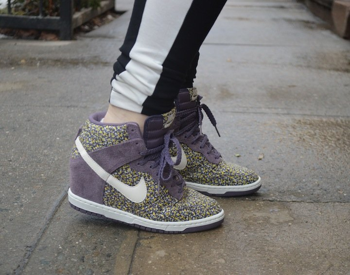 nike, nike sneakers, nike sky high wedges, wedge sneakers, spring fashion, springtime