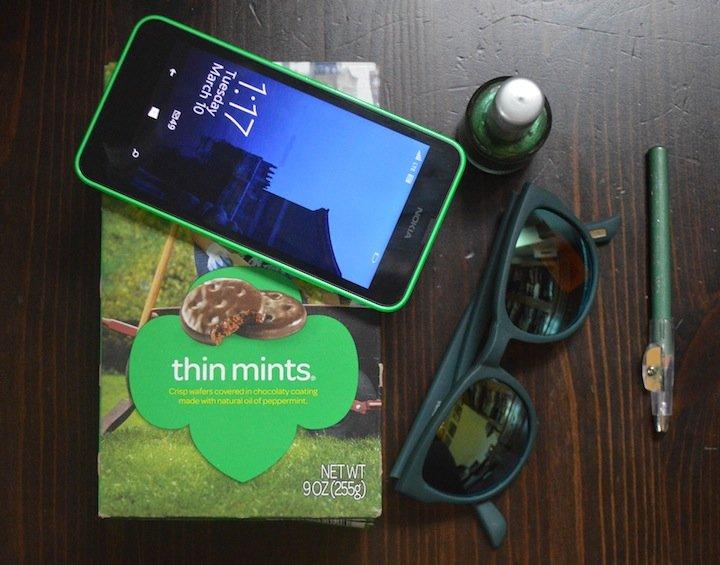 st. patricks day, green, girl scouts, girl scout cookies, j.crew, nokia lumia, microsoft lumia, lumia switch, 5 things, green nail polish