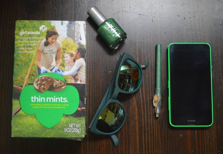 st. patricks day, green, girl scouts, girl scout cookies, j.crew, nokia lumia, microsoft lumia, lumia switch, 5 things, green nail polish