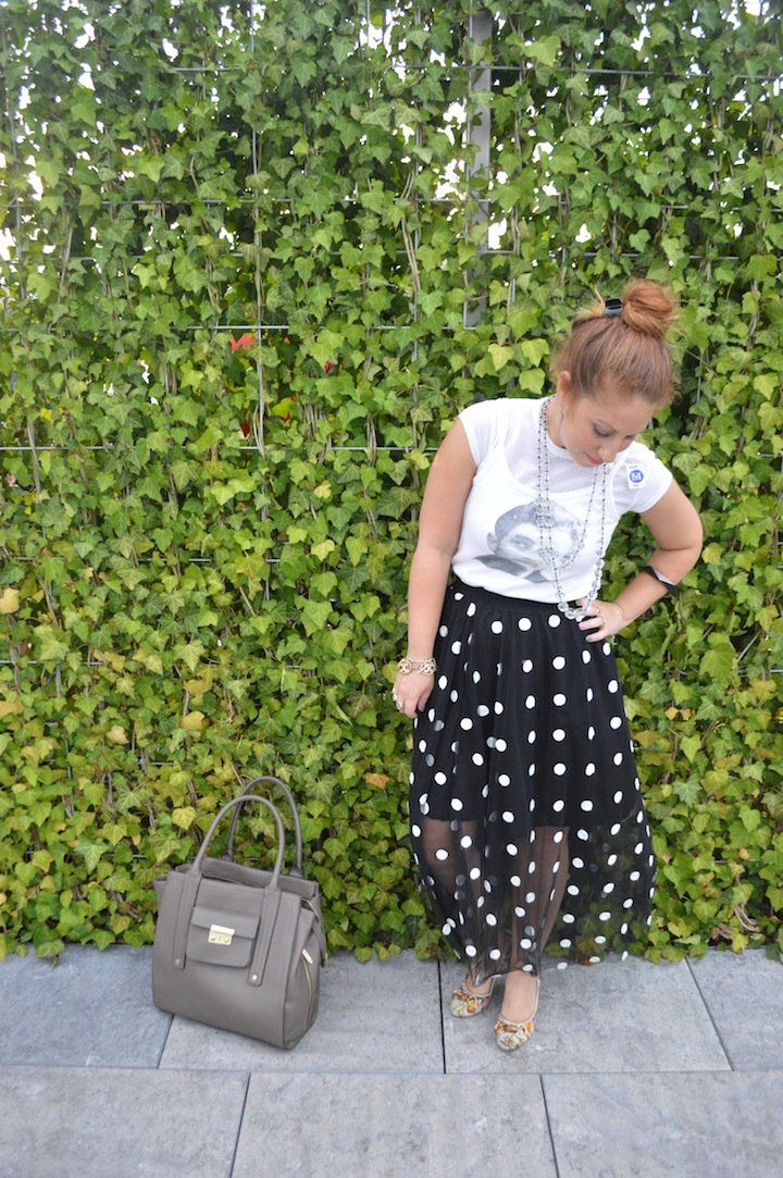 met museum, nyc, met rooftop, choies, midi skirt, james dean, nyfw, style, fashion blog, fashion blogger, polka dots, mismatch earrings, sterling silver, midi skirt