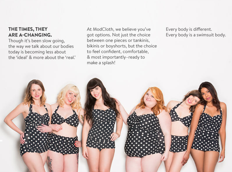 modcloth.com, modcloth, stylish swimwear, swimwear, bathing suits, bikini, love your body