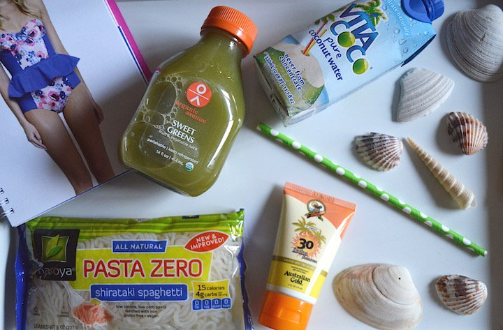 florida, essentials, travel essentials, beach travel, beach vacation, organic avenue, 1 day cleanse, detox, pasta zero, healthy living, healthy lifestyle, vita coco, australian gold, seashells, bathing suit