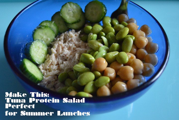 tuna protein salad, edamame salad, protein salad ideas, food, food blogger, healthy living, recipes, healthy recipes, lunch recipes, lunch ideas, salad ideas, lunch