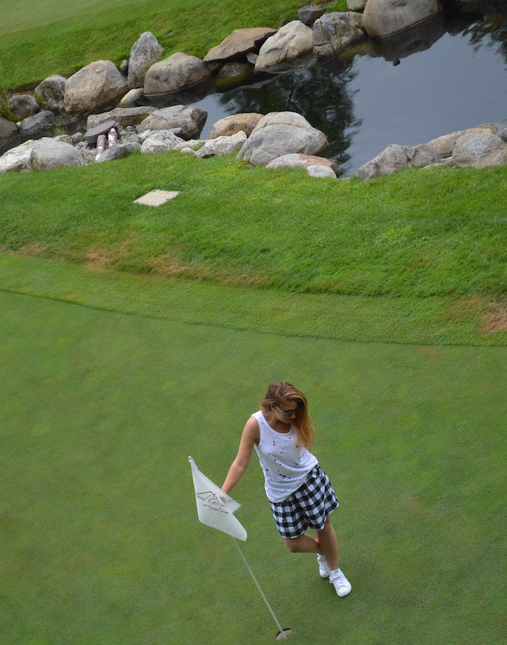 crystal springs resort, travel, vacation, golf, golf resort, golf vacation, golf trip, style, golf style, golf fashion, putting, driving range, fashion, fashion blogger, gingham skirt