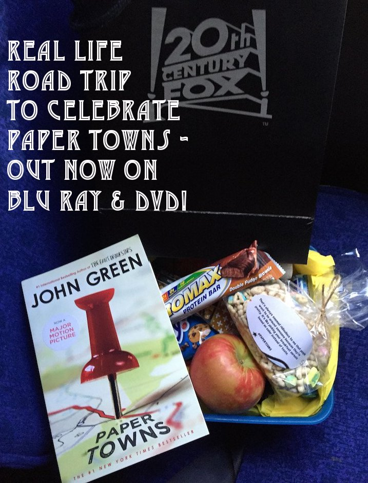 paper towns, paper towns movie, road trip, agloe ny, agloe ny road trip, new dvd releases, justice smith, road trip essentials, 20th century fox, fox movies, fox entertainment