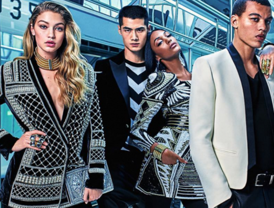Balmain, Balmain H&M, H&M, designer collaborations, balmain video