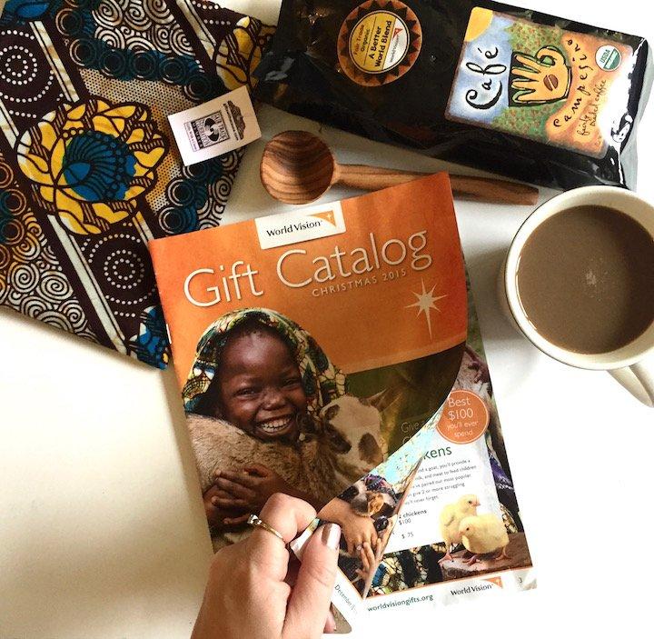 world vision, world vision gift catalog, coffee set, philanthropy