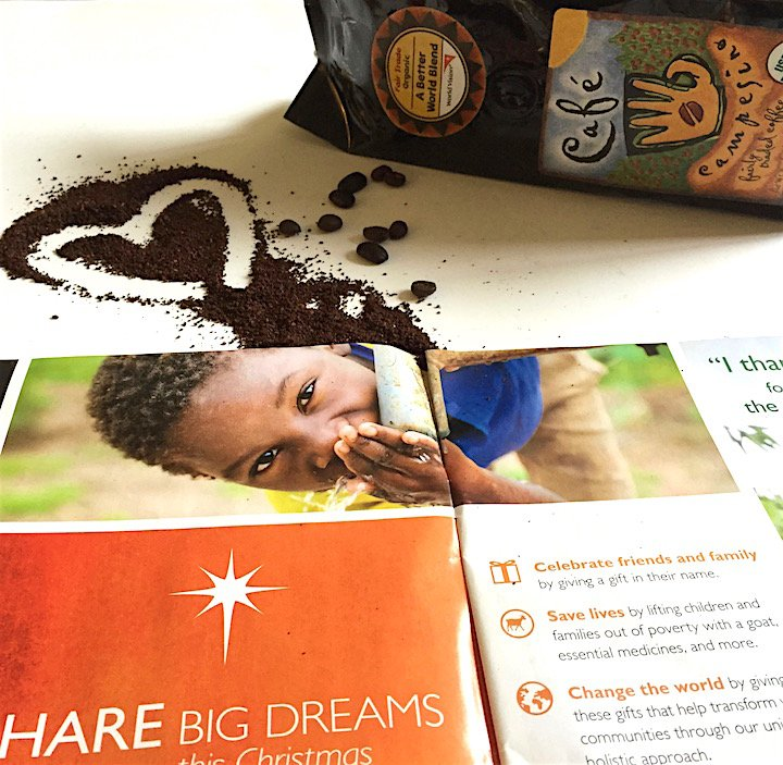 world vision, world vision gift catalog, coffee set, philanthropy