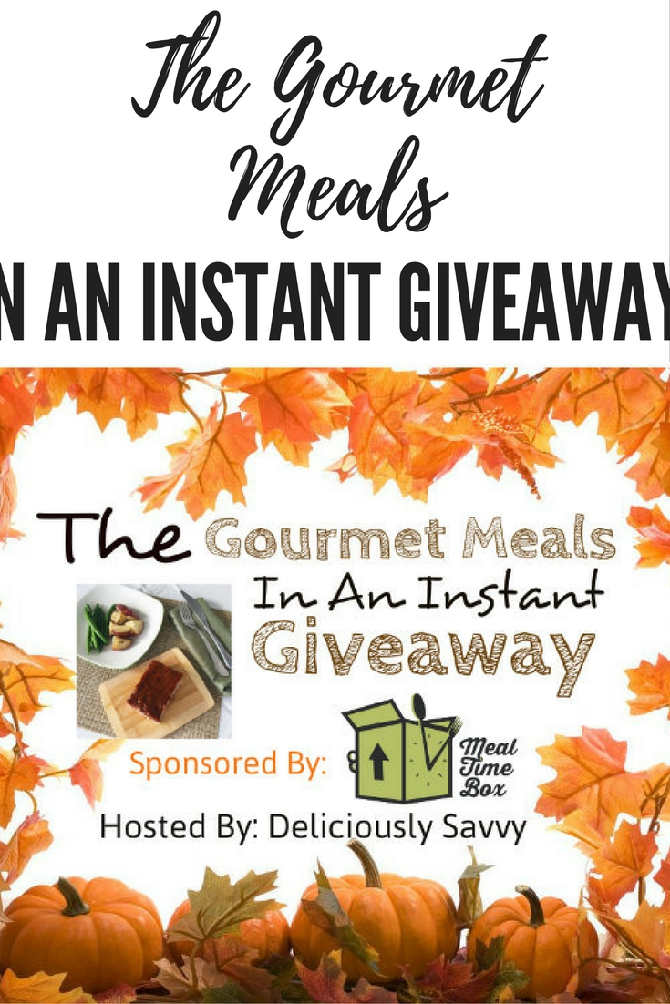 giveaways, blogger giveaways, gourmet meals, meal delivery services,