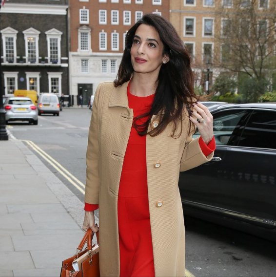 tomato red color, tomato red trend, amal clooney, the handmaids tale, red balloon, red trend,