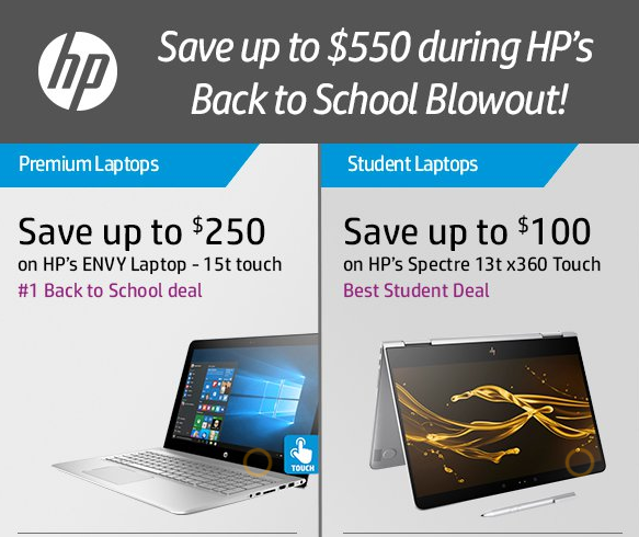 HP, back to school sales, HP sales, laptops