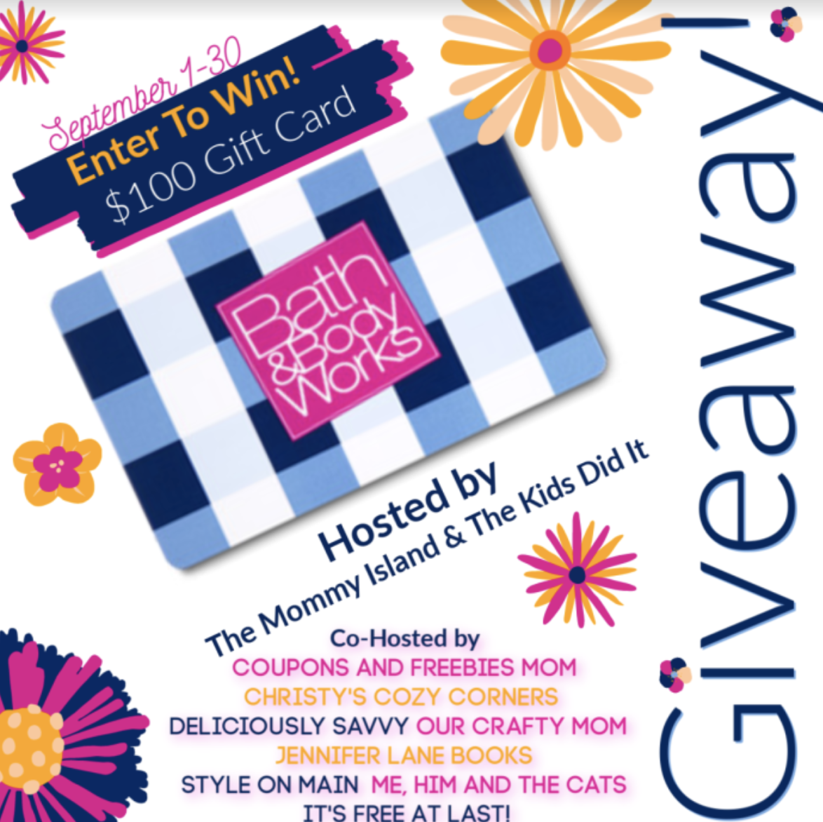 fall giveaway, bath & body works, e-gift card, bath & body works gift card, fall contests