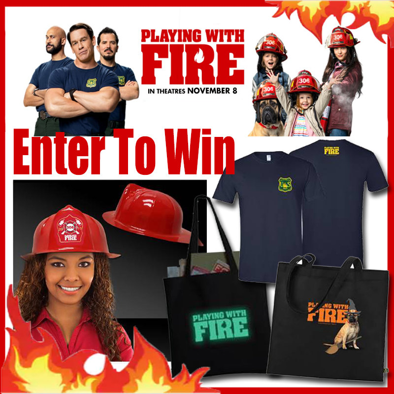 playing with fire trailer, new movie, movie trailers, john cena, movie prize pack, giveaway, prize pack giveaway,