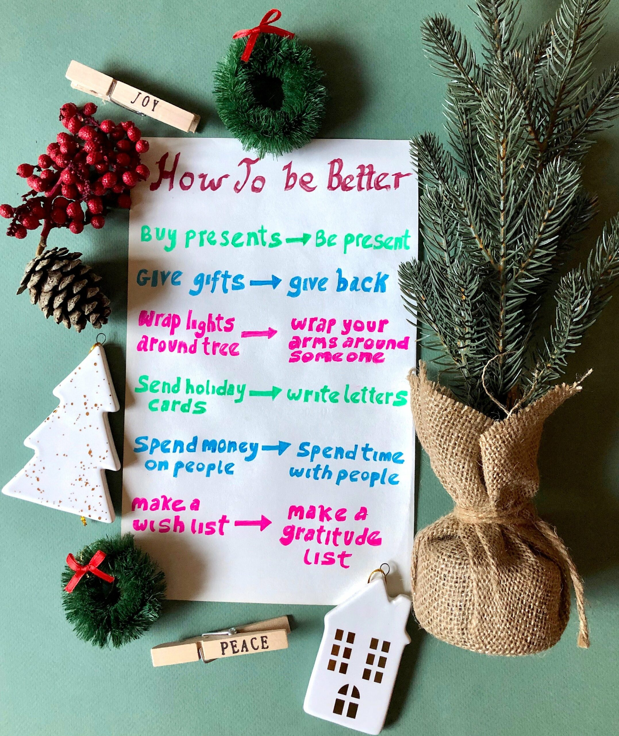 ways to be a better person this holiday season, mindfulness tips, holiday tips, how to be better, holiday wellness tips