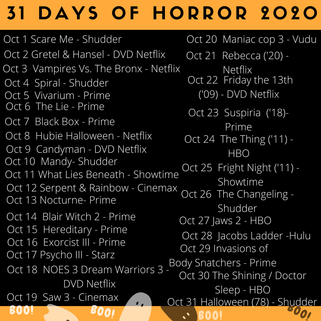 31 days of horror challenge, 31 days of halloween, halloween movie challenge, halloween horror challenge, halloween movies, scary movies, best scary movies, halloween classics