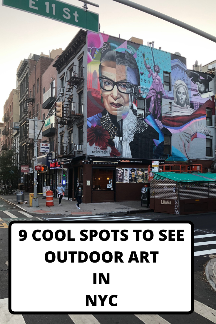 outdoor art in nyc, nyc art, nyc street art, free art in NYC, NYC murals, NYC artists, best NYC street art,