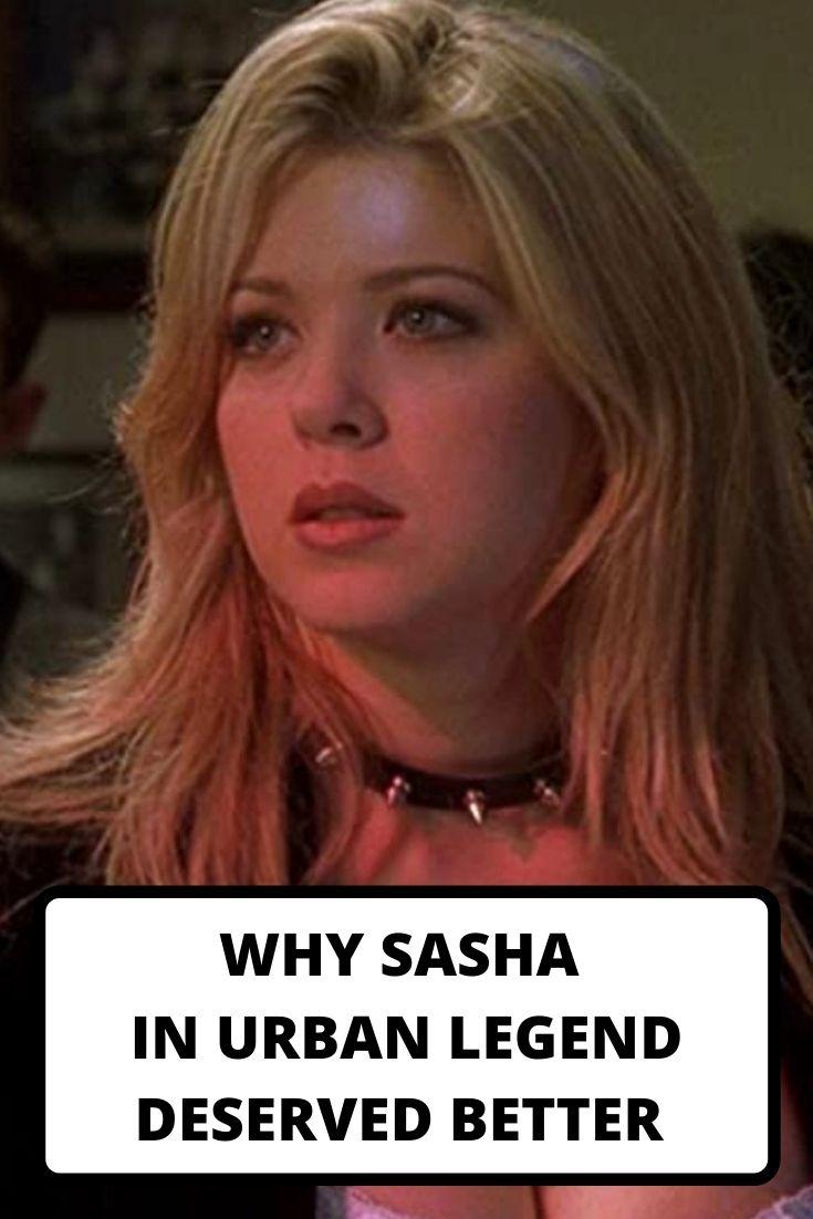 Sasha in Urban Legend, Tara Reid, Urban Legend movies, Urban Legend blu ray , Urban Legend collector edition box set, Jamie Blanks, 90's movies, slashers